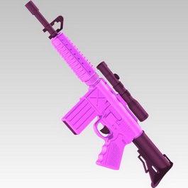 Submachine gun 3d model