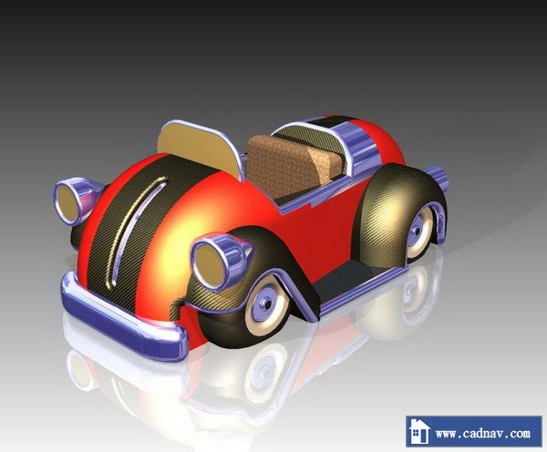 Cartoon Car 3d Model Unigraphicsnx Pro Engineer Files Free Download