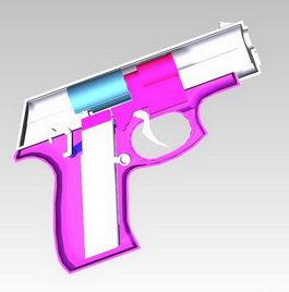Cap gun 3d model