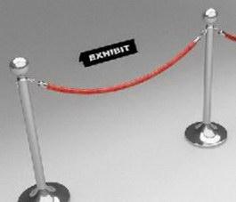 Museum Barrier Rope 3d model
