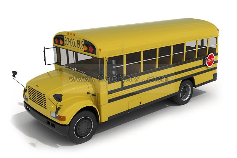 School Bus 3d Model 3ds Max Files Free Download Modeling