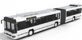 Trolley buses 3d model