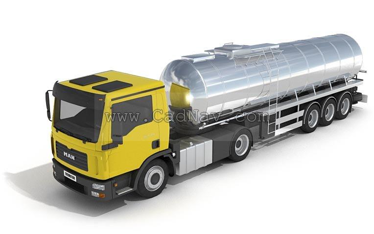 Oil Tank Truck 3d Model 3ds Max Files Free Download