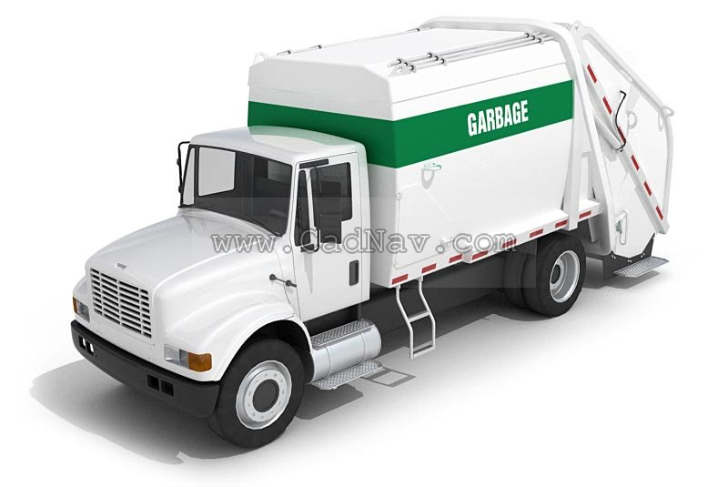 Garbage Truck 3d Model 3ds Max Files Free Download