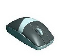 Scroll wheel mouse 3d model