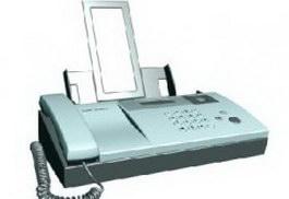 Harp fax machine 3d model