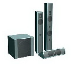 Home audio systems 3d model