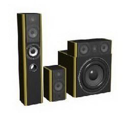 Home multimedia speaker 3d model