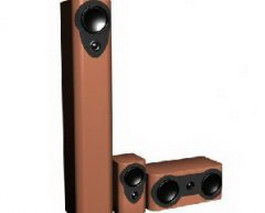 Passive speakers 3d model