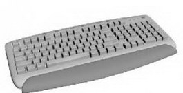Desktop keyboard 3d model