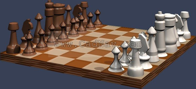 Chess 3d Model 3dsmax Files Free Download Modeling 189