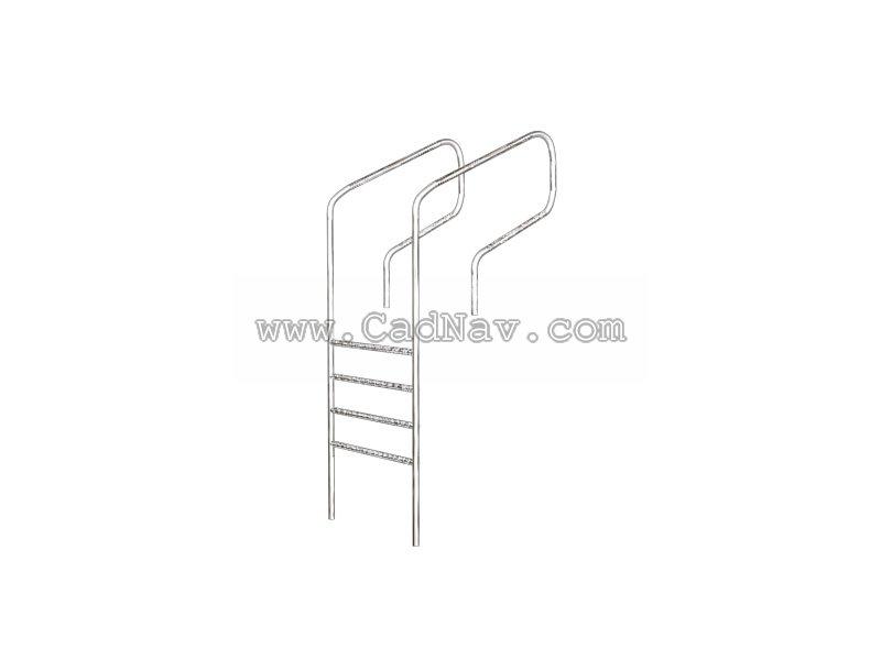 Swimming Pool Ladder 3d Model 3ds Max Files Free Download Modeling 207 On Cadnav