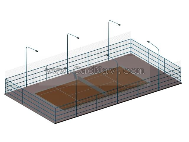 Tennis Court 3d Model 3ds Max Files Free Download