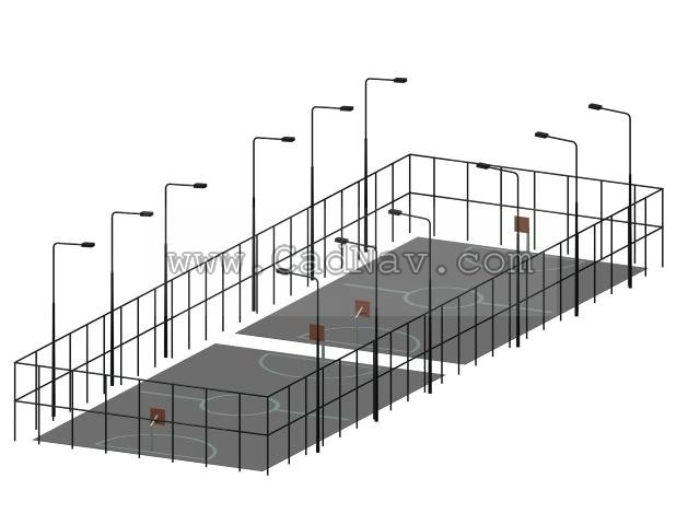 Basketball Court 3d Model 3ds Max Files Free Download