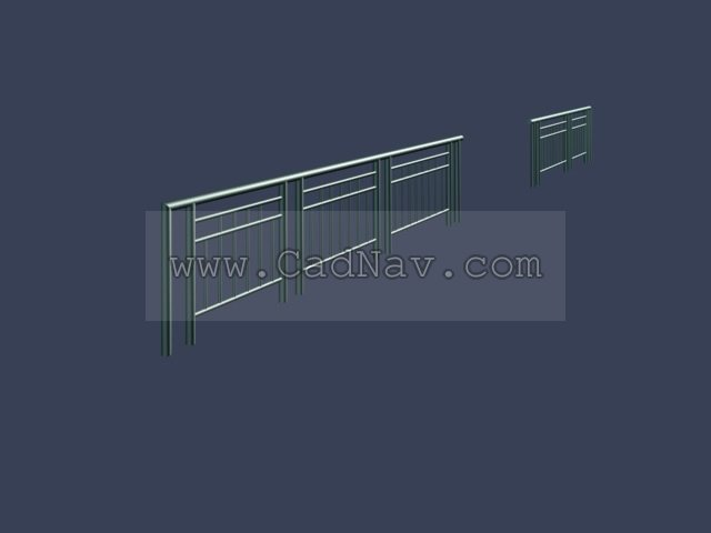 Metal Balustrade 3d Model 3ds Max Files Free Download