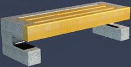 Garden granite benches 3d model