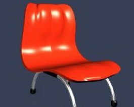 Outdoor Dining Plastic Chair 3d model