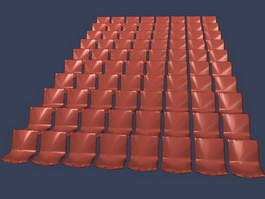 cinema theater chairs 3d model