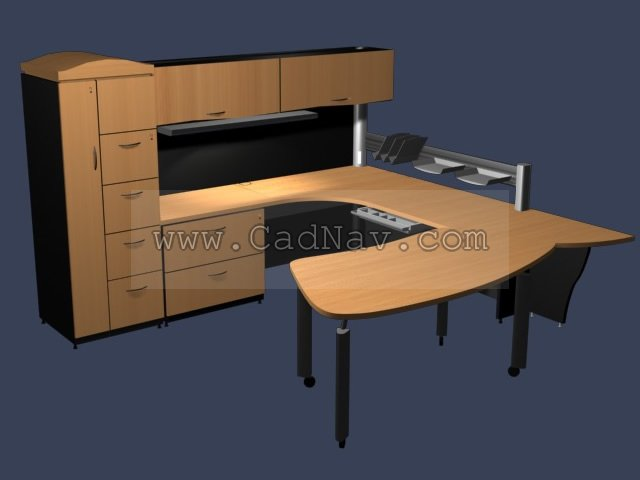 office desk units. Office Desks And Cabinet Wall Units 3D Model Desk S