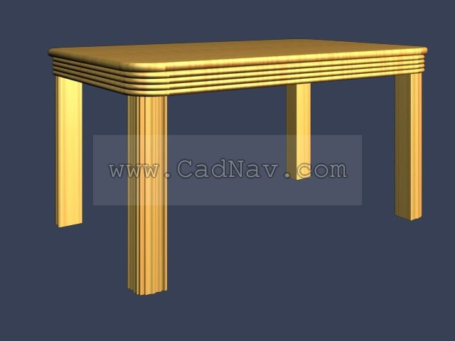 Wooden Dining Table 3d model 3Ds Max files free download  : 1 130506030352425 from www.cadnav.com size 640 x 480 jpeg 26kB
