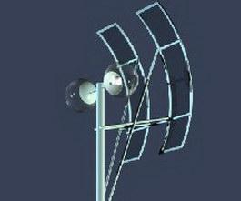 Double arm solar street lighting 3d model