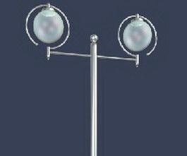 Cast-aluminum street garden lamp 3d model
