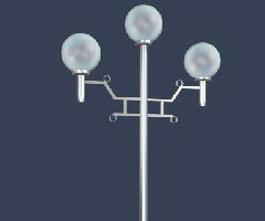3 arm garden lamp 3d model