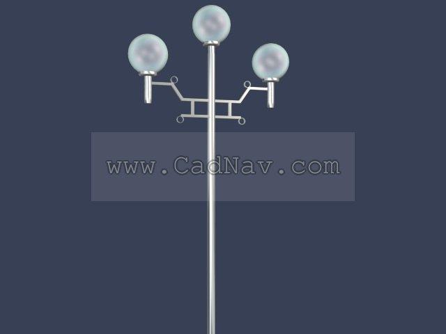 3 arm garden lamp 3d rendering