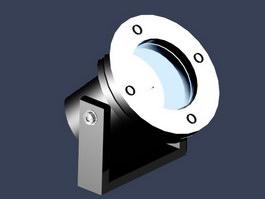 Halogen spotlight 3d model