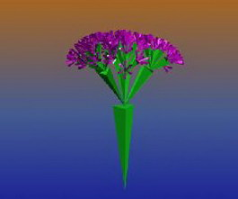 Decorative flower 3d model
