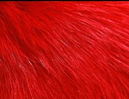 Red artificial fur texture