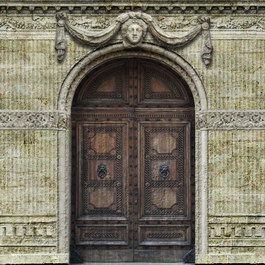Antique doors carved texture