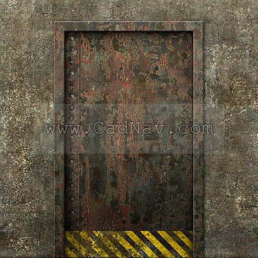 Concrete rusty metal door texture - Image 519 on CadNav