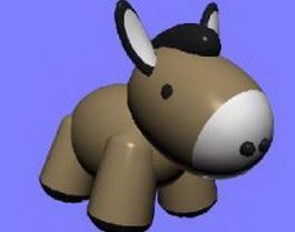 Donkey toys 3d model