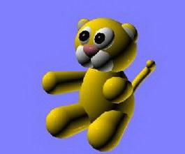 Toy tiger 3d model