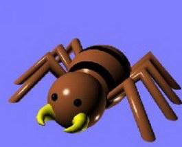Cartoon spider 3d model