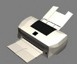 Color inject printer 3d model