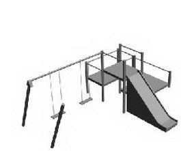 Playset childrens play facilities 3d model