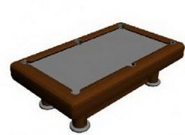 Billiards table 3d model