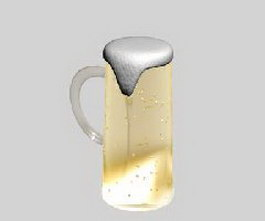Glass of beer 3d model