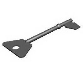 Unlocking key 3d model