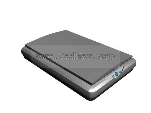 Scanner 3d Model 3ds Max Files Free Download Modeling