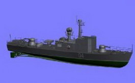 Gunboat 3d model