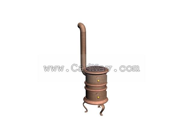 Furnace stovepipe 3d model