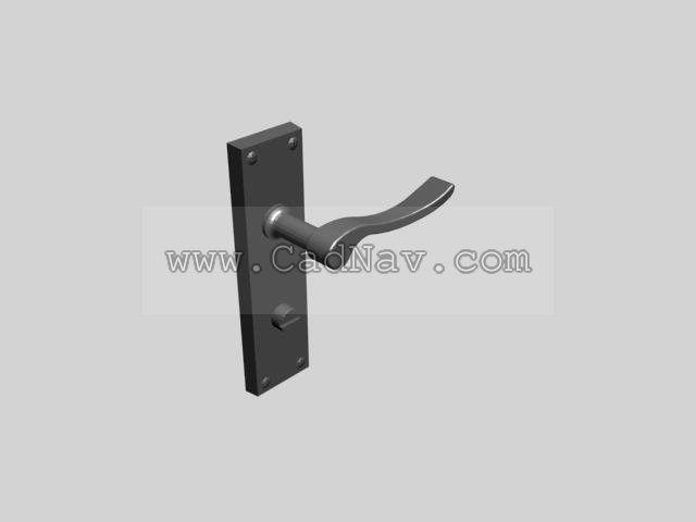 Door Lock Handle 3d Model 3dsmax Files Free Download