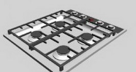 Gas Hob 3d model