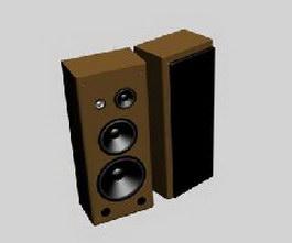 Wooden Speakers 3d model