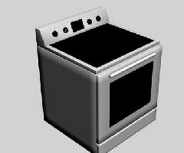 Induction cooker and oven 3d model