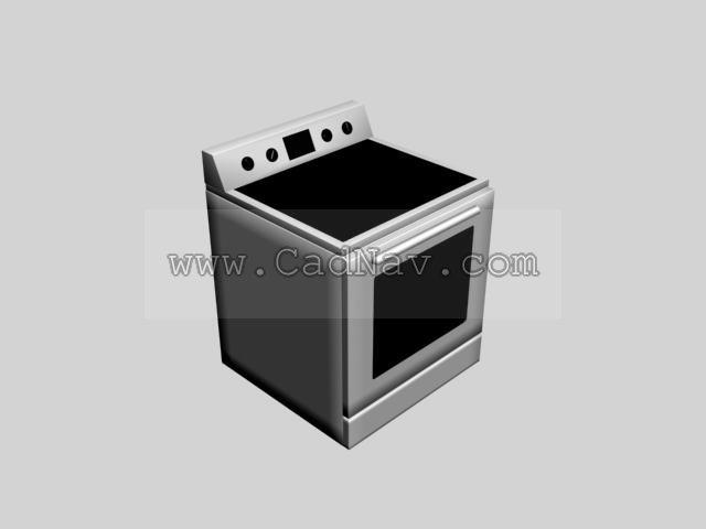 Induction cooker and oven 3d model - CadNav