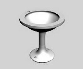 Round washbasin 3d model